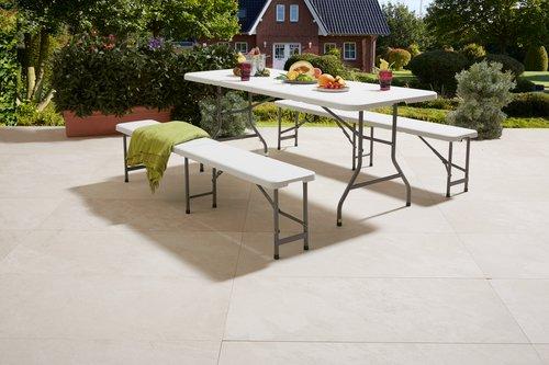 Table pliante KULESKOG 75x180 blanc