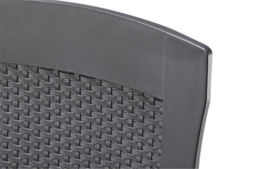 Silla reclinable LIVORNO gris oscuro