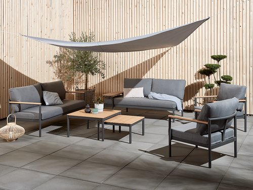 Lounge set ODDESUND 5 lug cinzento