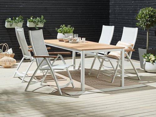 Miza RAMTEN D206 + 4 stoli SLITE