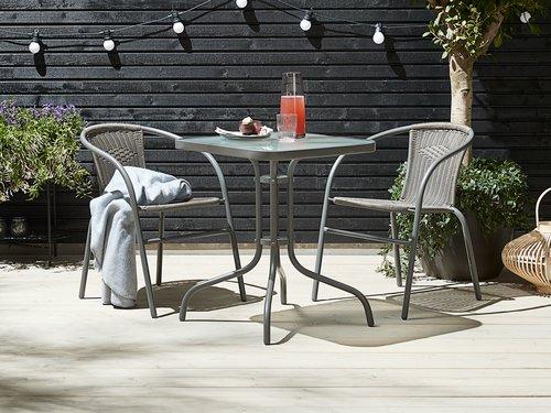 Table bistrot LARISSA 60x60 gris