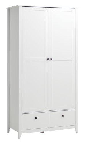 Skap NORDBY 105x200 hvit