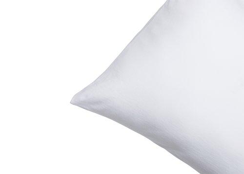 Taie d'oreiller Jersey 40x80cm blanc