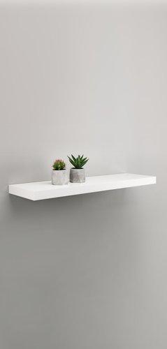 Zwevende plank ABILD 80x24 wit