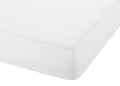 Drap-housse 160x200x28cm blanc