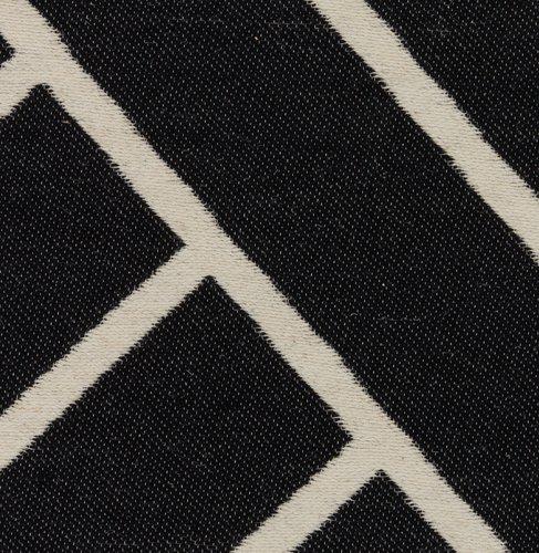 Vloerkleed MOGOP 140x200 zwart/wit