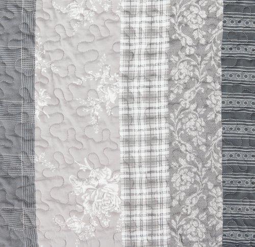Štepana deka KORNBLOMST 140x200 siva