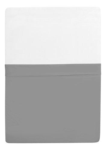 Sábana ajustable Micro 90x200x30cm gris