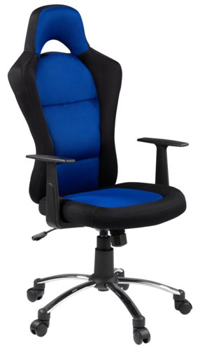 Scaun gaming SNERTINGE negru/albastru