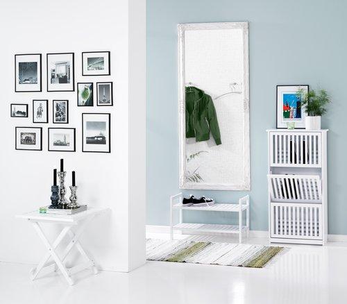 Speil RUDE 72x162 hvit