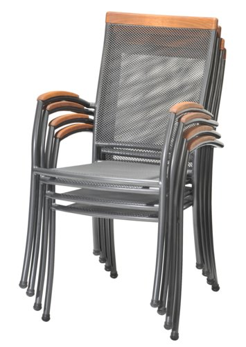 Stacking chair LARVIK grey