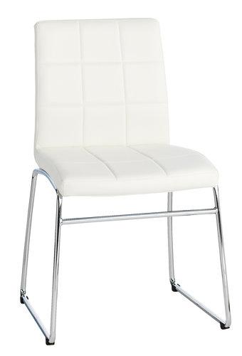 Ruokapöydän tuoli HAMMEL valk./kromi