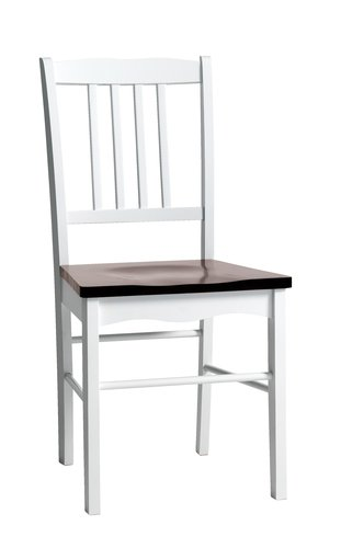 Dining chair BRANDERUP white/brown