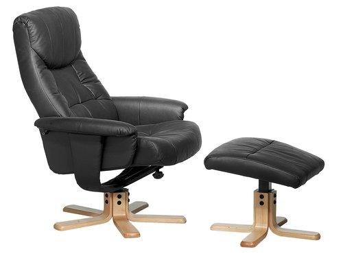 Fotelja s tabureom HUNDSLUND crna