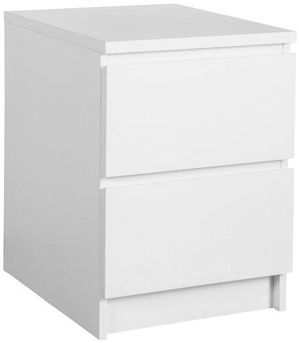 Nachttisch LIMFJORDEN 2 Schubladen weiß