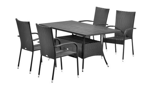 Table STRIB W84xL150 black