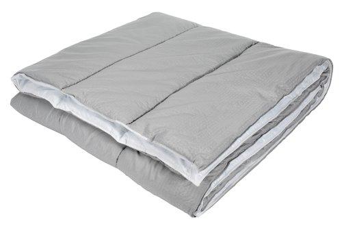 Täcke 800g MELDAL grå sval 200x220