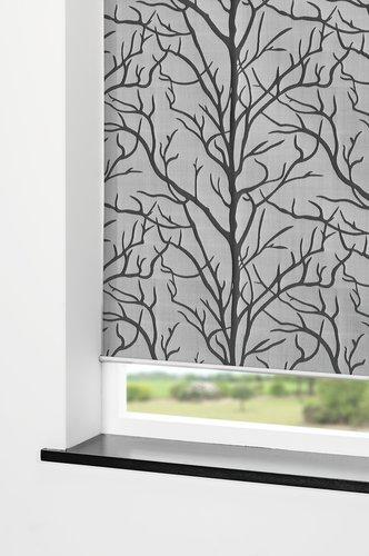 Rolgordijn BARKEN 180x170cm grijs/zwart