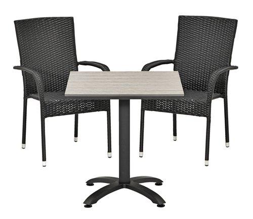 Bistro table HOBRO W70xL70 grey