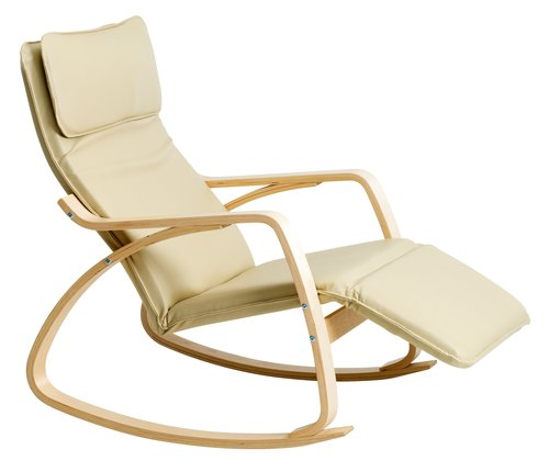 Stolica za ljuljanje VIBY krem/breza
