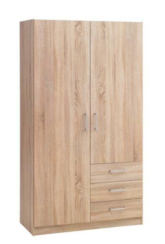 Wardrobe HAGENDRUP 96x176 combi oak