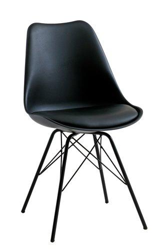 Blagovaonska stolica KLARUP crna/crna