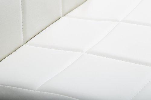 Spisebordsstol HAMMEL hvid/krom