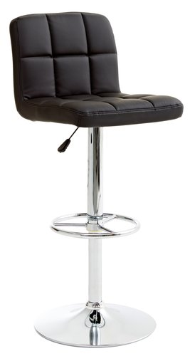 Barska stolica HAMMEL crna/hrom