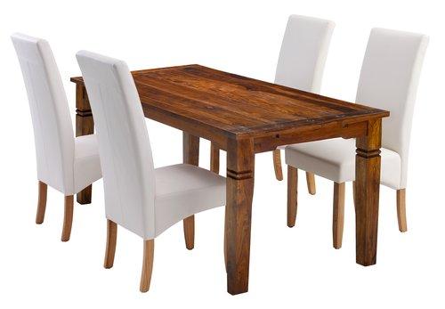 Stôl FREDERICIA D178 cm + 4 BAKKELY krém
