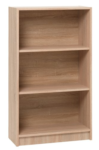 Bookcase HORSENS 3 shlv. wide oak