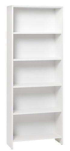 Bücherregal GISLINGE 5 Fächer weiß