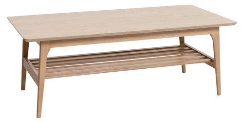 Salontafel KALBY 60x120 licht eiken