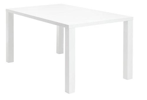 Ruokapöytä OMME valkoinen korkeakiilto