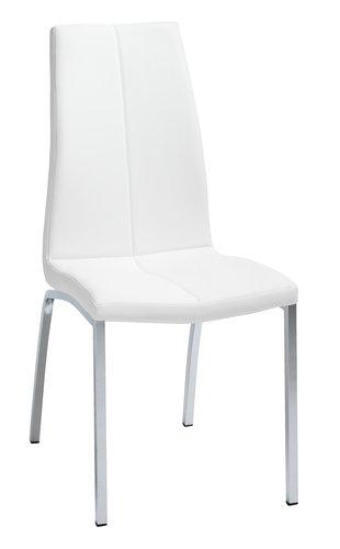 Ruokapöydän tuoli HAVNDAL valk./kromi