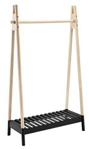 Clothes rail JENNET natural/black