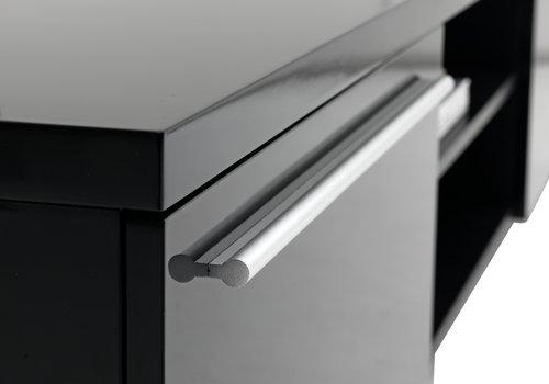 TV-bord AAKIRKEBY 2 skuff svart høyglans
