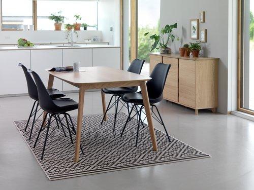 Matbordsstol KLARUP svart/svart