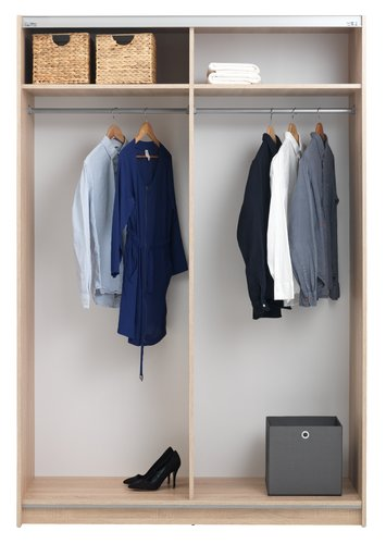 Wardrobe SATTRUP 151x219 white/oak