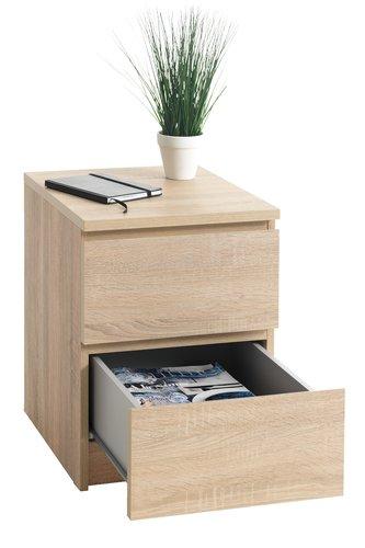 Noční stolek LIMFJORDEN 2 zásuvky dub