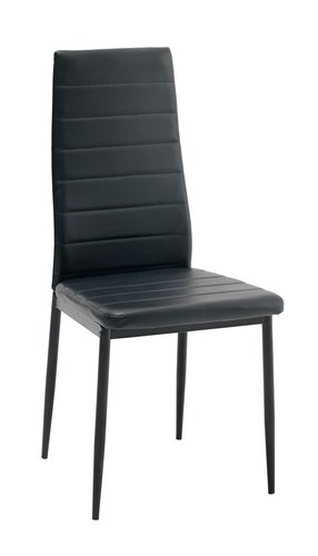 Dining chair TOREBY faux leather black