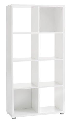 Libreria HALDAGER 8 ripiani bianco