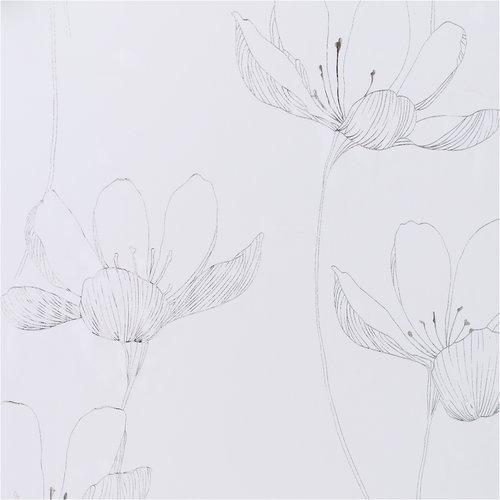 Κουρτίνα HESSA 1x140x245 ασημί/λευκό