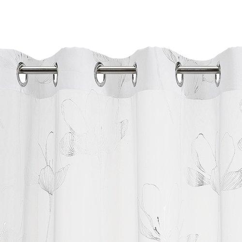 Függöny HESSA 1x140x245 ezüst/fehér