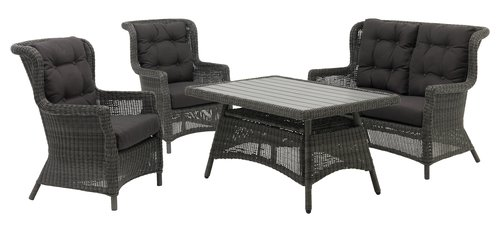 Lounge set FALKENBERG 4 pers. grey