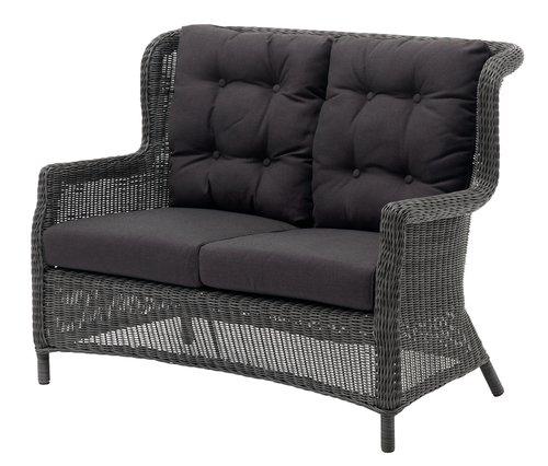 Canapé lounge FALKENBERG 2 pers. gris