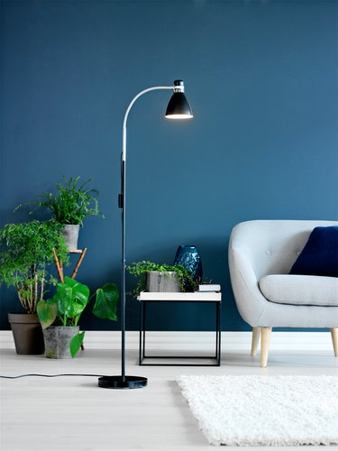 Podna lampa HANSSON Ø22xV155cm crna