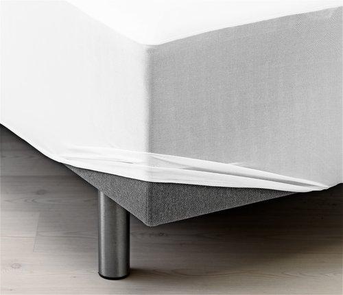 Sábana ajust imperm. 150x190x20cm blanco