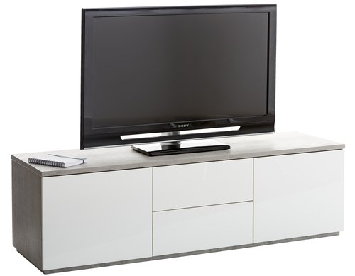 TV bench JERNVED 2+2 door w.gloss/con