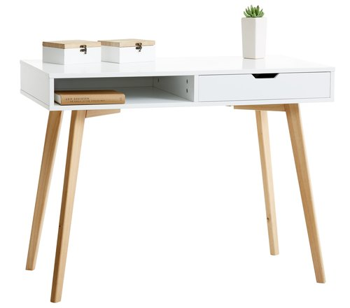 Bureau TAMHOLT 50x100 wit/naturel
