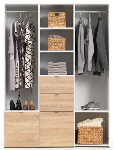 Wardrobe NAUTRUP 149x200 white/oak